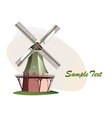 traditional windmill vector image