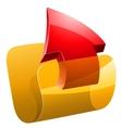Upload folder vector image