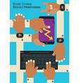 Wearable technology concept Monitoring stocks vector image