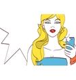 girl doing selfie Beautiful drawing vector image
