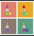 flat icon design collection children constructor vector image vector image
