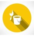bucket construction trowel icon vector image vector image