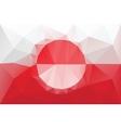 Greenland flag vector image