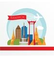 Travel thailand landmarks vector image