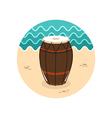 Drum icon Summer Vacation vector image