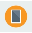 Tablet Computer Flat Icon vector image