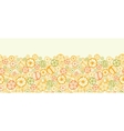 Citrus slices horizontal seamless pattern vector image