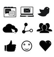 set of social networking icons for web and mobile vector image