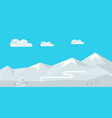 winter landscape with snow covered mountains vector image