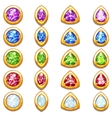 Colorful golden amulets with diamonds different vector image