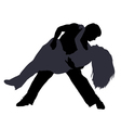 Break dancers silhouettes vector image