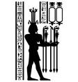 Egyptian hieroglyphs and fresco vector image vector image