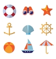 Sea Objects Collection vector image