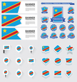 SET the democratic republic of the congo vector image