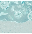 Vintage Floral Rose Dots Card vector image vector image