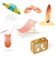 Beach Set vector image