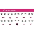 Emoticons face expressions set vector image