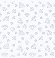 jewelry seamless pattern diamonds flat line vector image