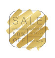 luxury sale banner design gold paint stroke vector image