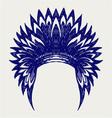 Native american indian headdress vector image