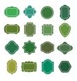 Eco green natural organic product badges vector image vector image
