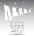 2017 calendar with a family concept vector image vector image