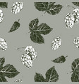 seamless pattern with hand drawn hop vector image