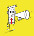 Square guy-megaphone vector image