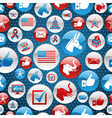 USA elections icons glossy buttons pattern vector image vector image