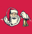 vintage hand drawing style of santa claus vector image