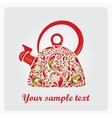 Beautiful teapot made from the leaf pattern vector image