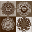 Circle ornament ornamental round lace collection vector image vector image