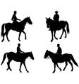 horsemen vector image