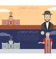 Jew banner vector image