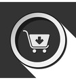 icon - shopping cart add with shadow vector image