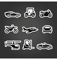 Set stickers transport icons vector image vector image