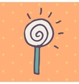Flat icon of round lollipop vector image