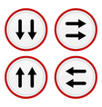 Set icons with arrows vector image