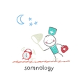 somnology catches hours vector image
