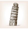 Tower of Pisa hand drawn sketch style vector image