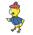 Yellow chicken Children vector image