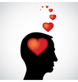 heart in the mind vector image vector image