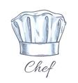 Chef toque sketch icon vector image vector image