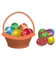 egg in basket vector image vector image