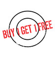 buy 1 get 1 free rubber stamp vector image