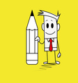 Square guy-Pen vector image vector image