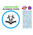 cow handbook rounded icon with set vector image