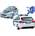 poland police car vector image vector image