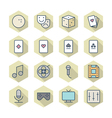 Thin Line Icons For Leisure vector image vector image
