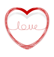 abstract doodle heart vector image